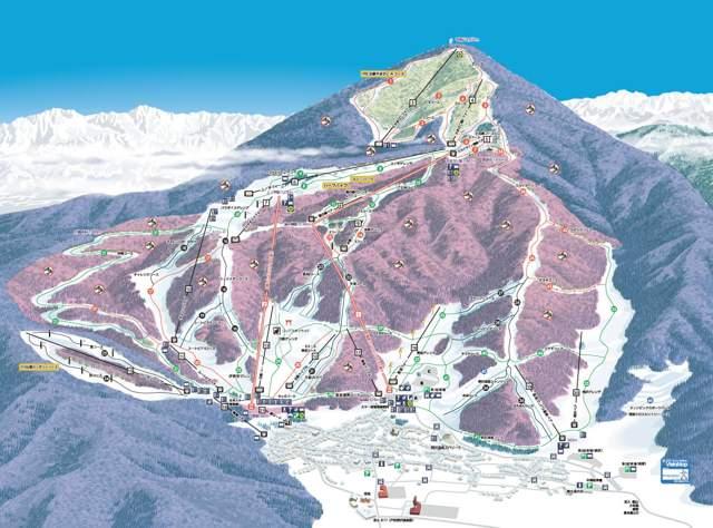 スキー場MAP 標高差1080m 最長滑走距離10km