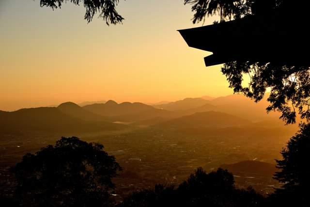 夕日がキレイ…