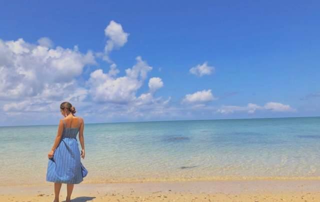 どこに行っても本当に海は綺麗!青く透き通った海です